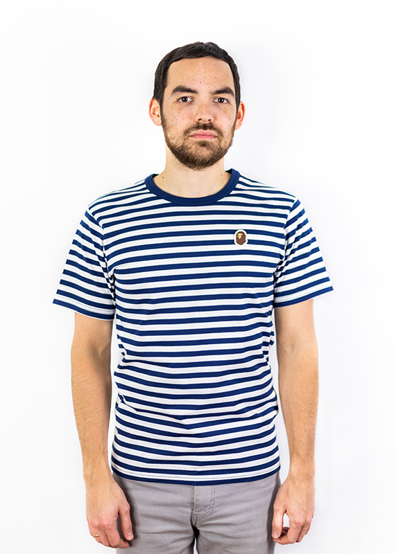 Navy/White Striped Bape Tee