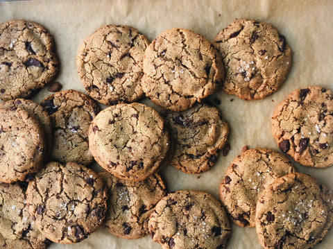 Salted Tahini Chocolate Cookies