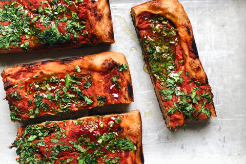 Tomato and Herb Sourdough Focaccia
