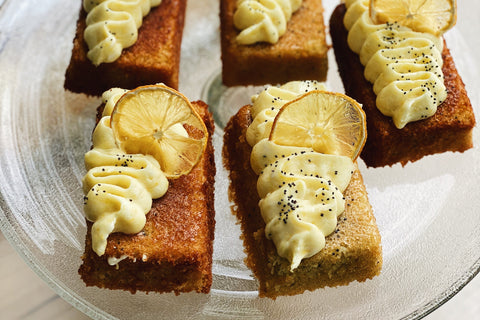 Lemon Poppy Seed Olive Oil Cakes