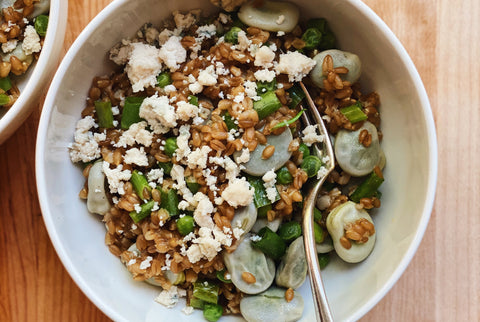Farro, Pea and Fava Bean Salad