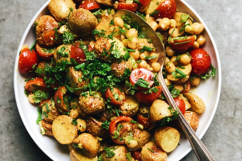 Chickpea + Roasted Potato Salad