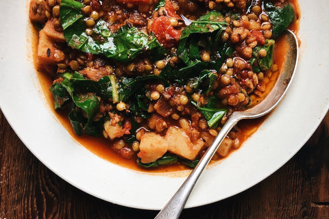 Weeknight French Lentil Stew with Greens