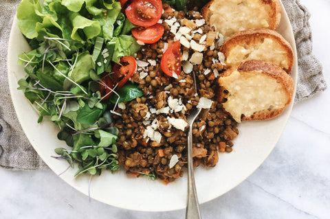 French Lentils with Wine-Glazed Vegetables