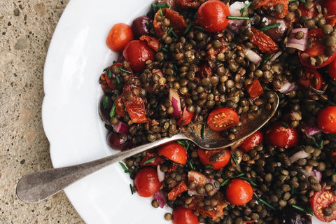 French Lentil & Tomato Salad