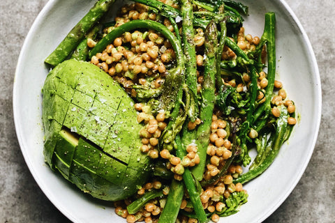 Wheat Berry Salad with Herby Green Dressing
