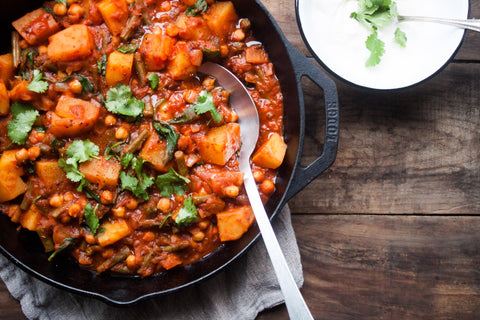 30 Minute Kabuli Chickpea + Potato Curry