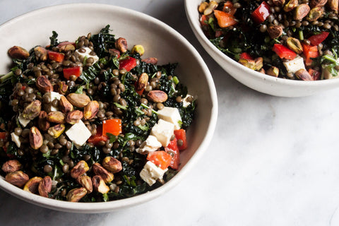 Marinated French Lentil & Kale Salad