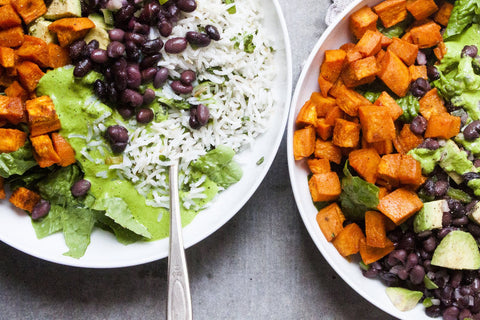 Sweet Potato Bowls with Black Beans