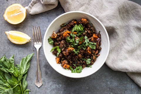 Fall Lentil + Roasted Vegetable Salad