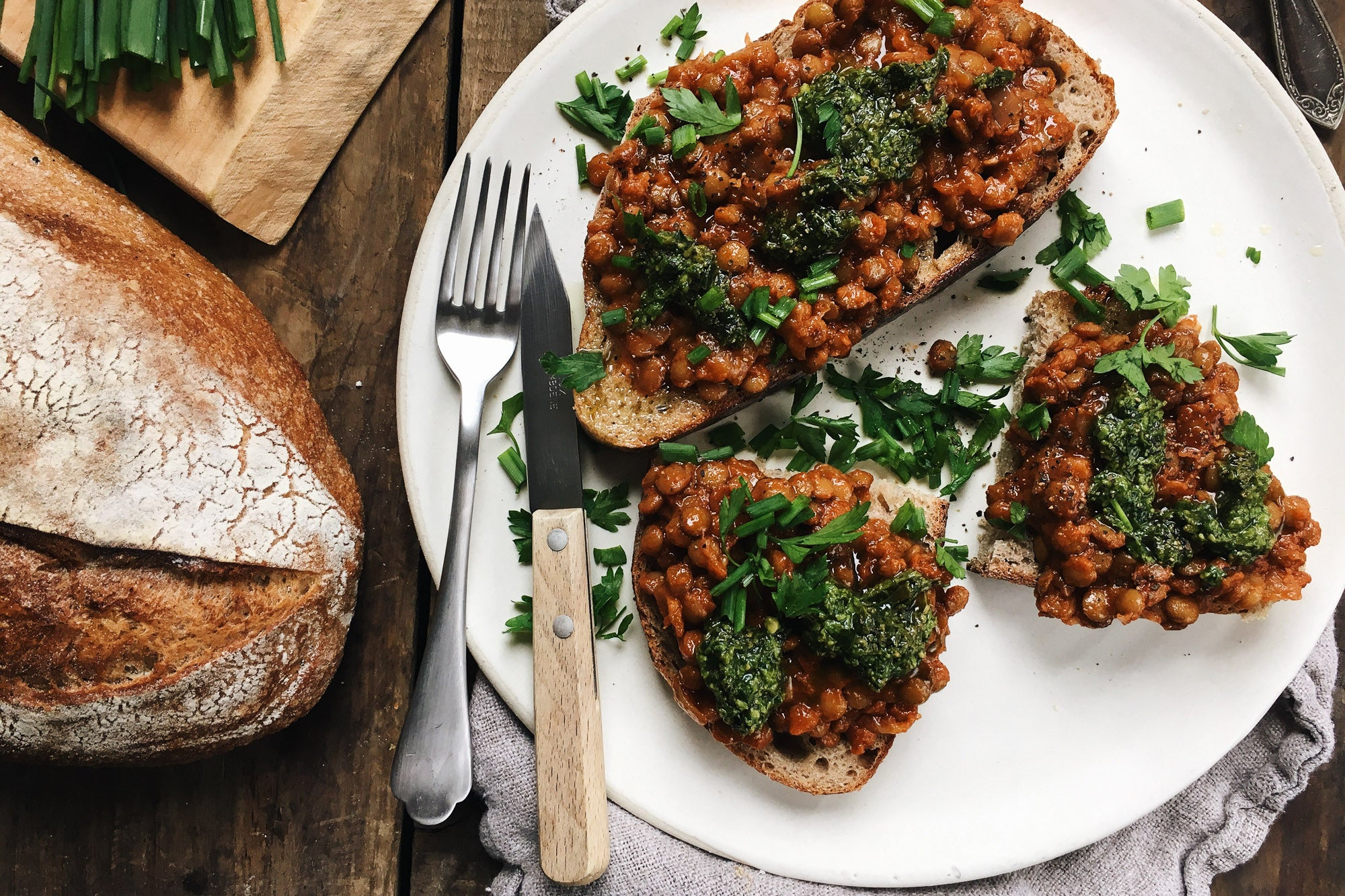 Easy Baked Laird Lentils