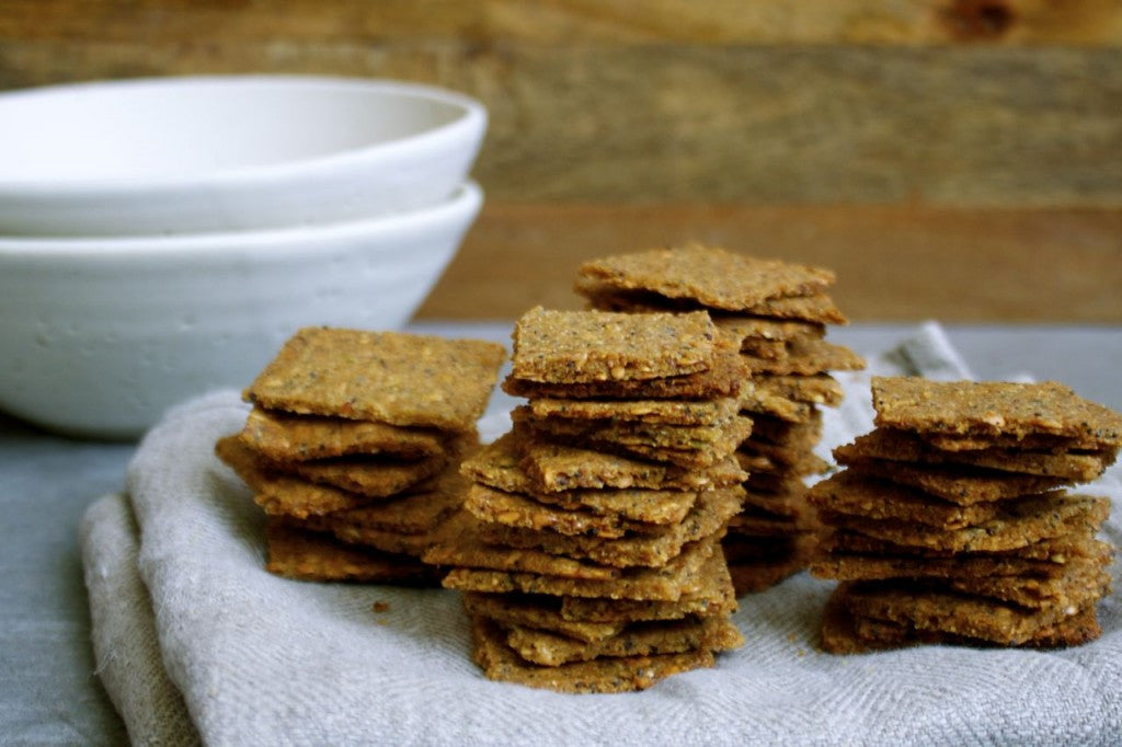 The Essential Cracker: Sprouted Golden Quinoa + Flax