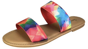 Double Band Mulitcolor Sandal