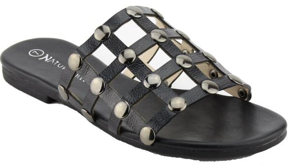 Black Caged Sandals