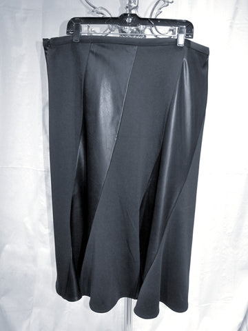 Panel Faux/Fabric Swing Skirt