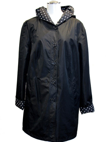 Reversible Hooded Raincoat