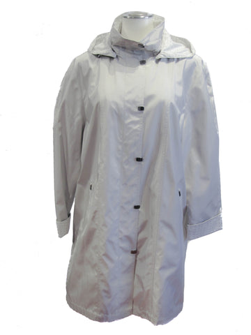 Neutral Hooded Raincoat