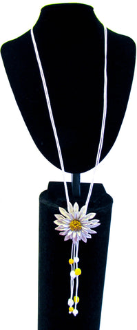 Leather Sunflower Necklace