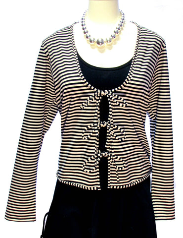 Black and Ivory Stripe Jacket
