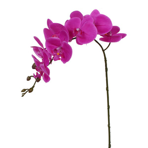 "36"" Real Touch Signal Stem Phalaenopsis Orchid Spray with 9 Flowers in Purple Beauty Color (12 Pcs per Box)  #OM501-PU"
