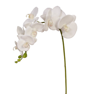 "31"" Real Touch Signal Stem Phalaenopsis Orchid Spray with 8 Flowers in White Color ( 6 Pcs per Box)  #02MDN02-W"