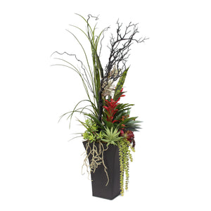 Contemporary Arrangement in a Tall Tin Container #42A