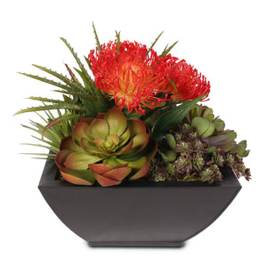 Tropical Artificial Succulents in a Metal Container #61C