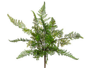 Artificial Leather Fern Bush (6 Succulents Total) #PBF581-GR