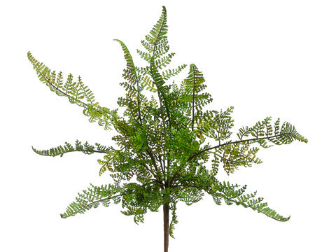 Artificial Leather Fern Bush (6 Bushes Total) #PBF581-GR
