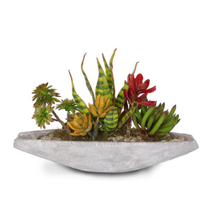 Artificial Tropical Succulents in Stone Boat #S-21