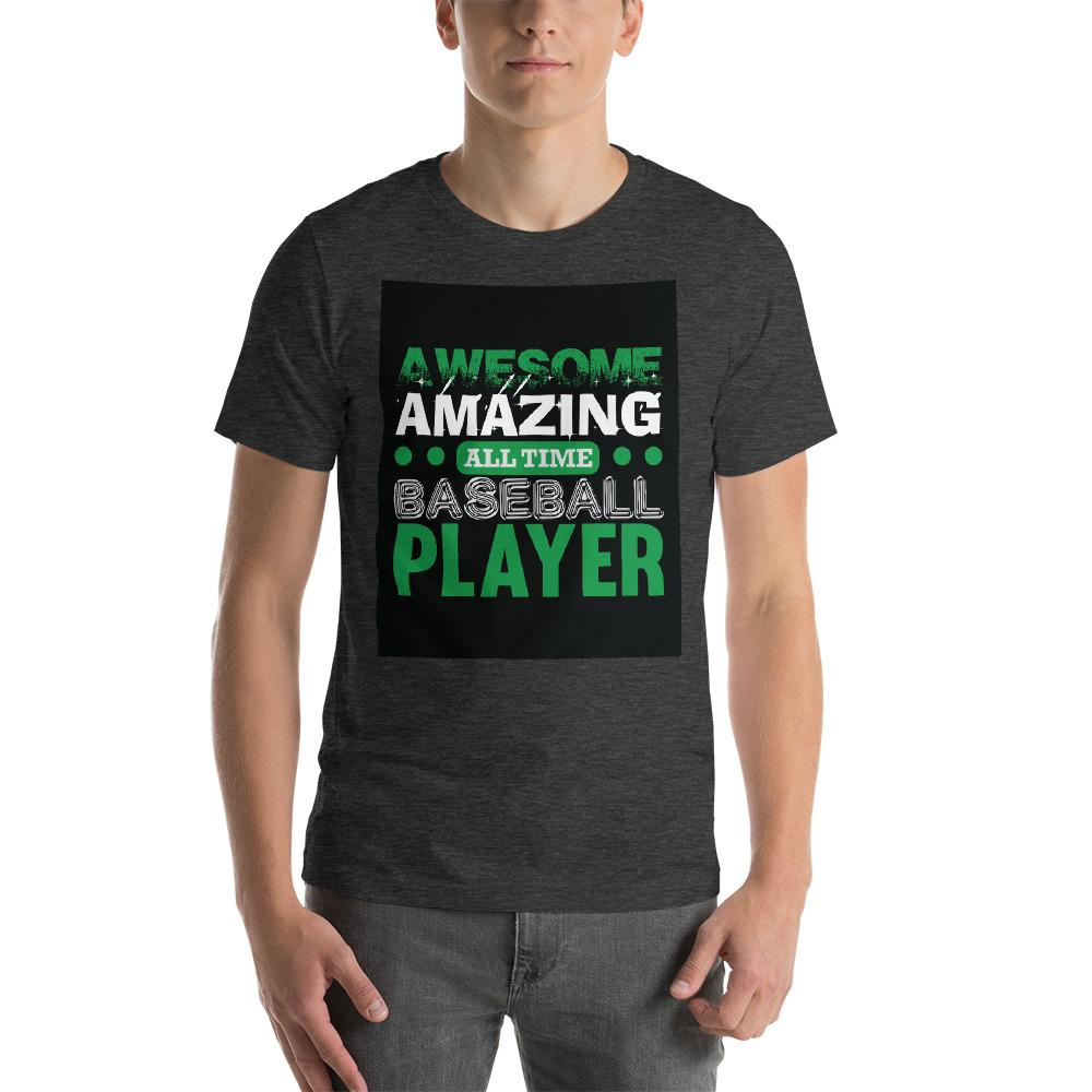 Amazing all time baseball player Men's T-Shirt Chiro's Dark Grey Heather XS