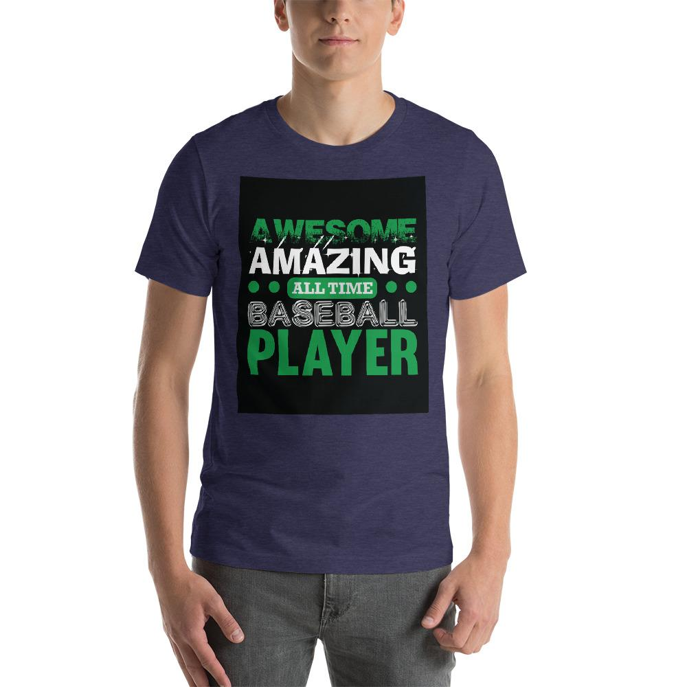 Amazing all time baseball player Men's T-Shirt Chiro's Heather Midnight Navy XS