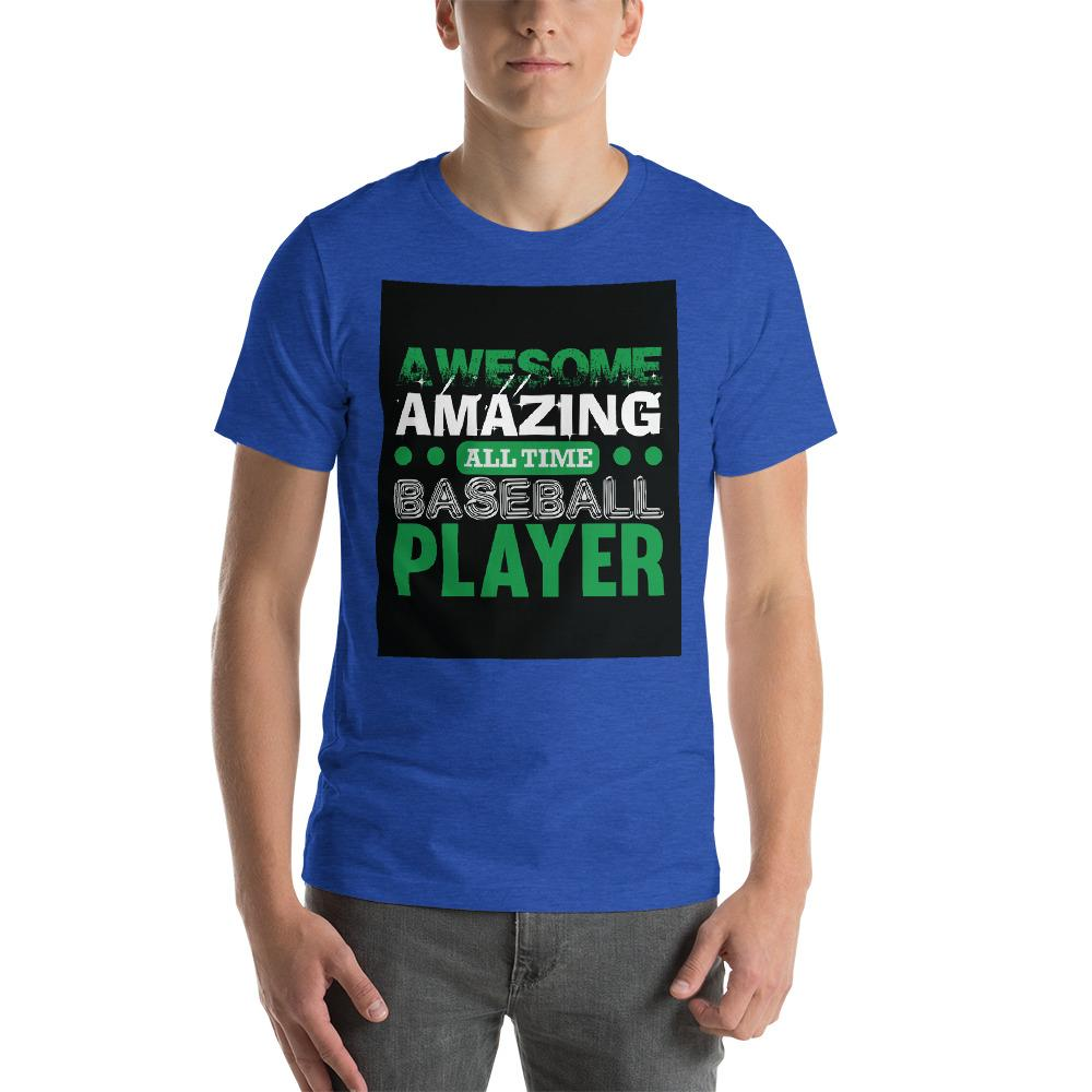 Amazing all time baseball player Men's T-Shirt Chiro's Heather True Royal S