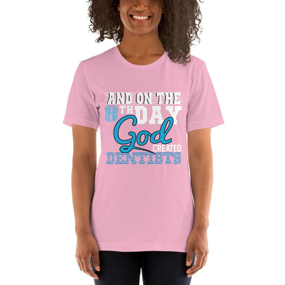 And on the 8th day God created dentists women's T-Shirt Chiro's Lilac S