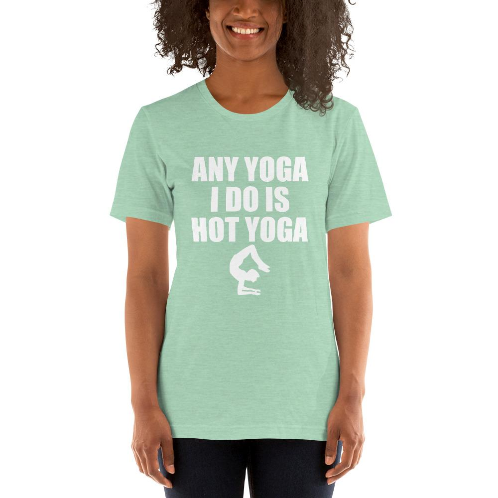 Any Yoga I do is Hot Yoga Women's T-Shirt Chiro's Heather Prism Mint XS