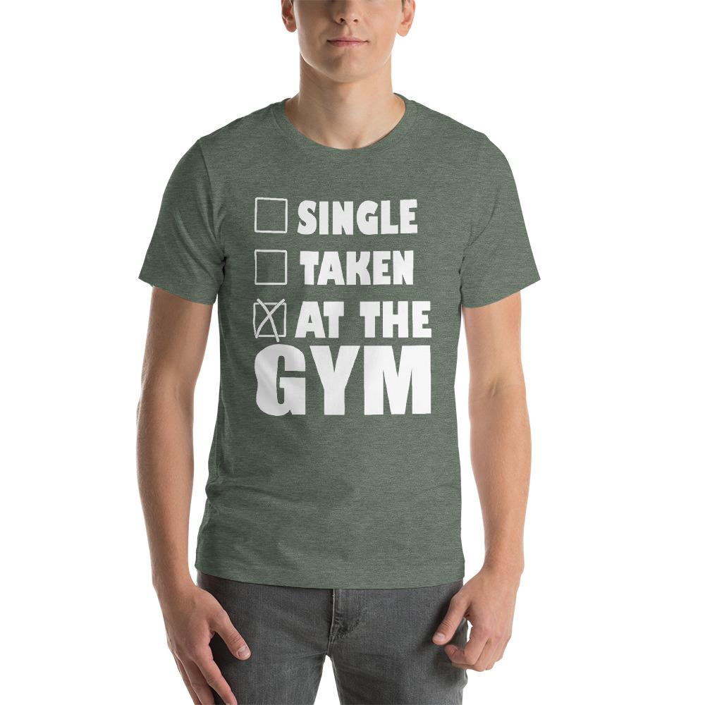At the Gym Men's T-Shirt Chiro's Heather Forest S