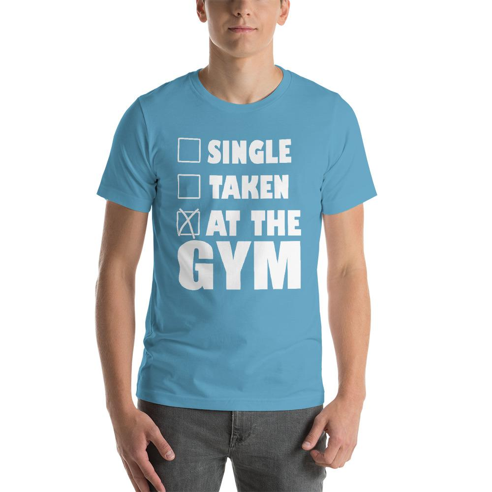 At the Gym Men's T-Shirt Chiro's Ocean Blue S