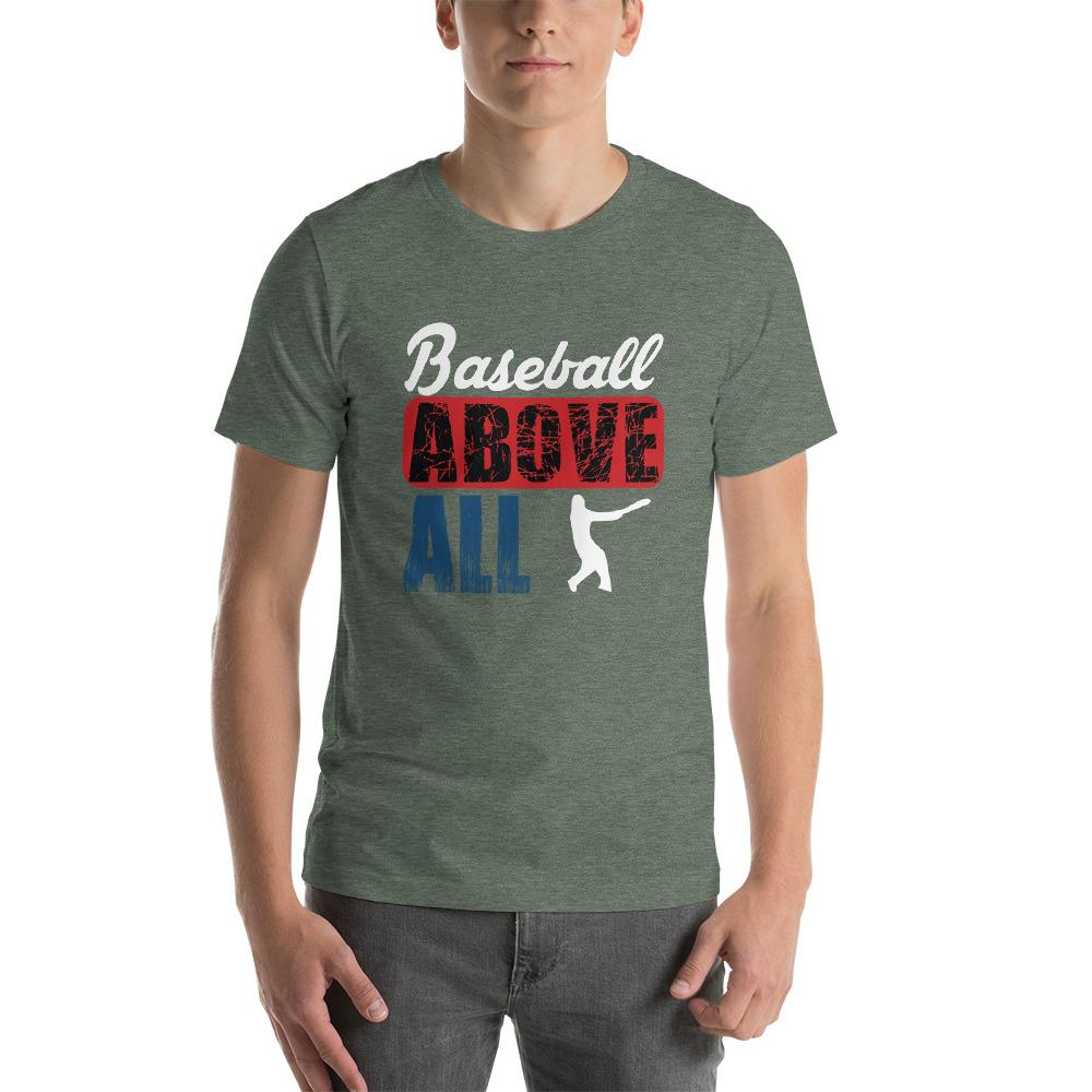 Baseball above all Men's T-Shirt Chiro's Heather Forest S