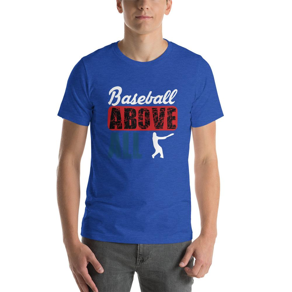 Baseball above all Men's T-Shirt Chiro's Heather True Royal S