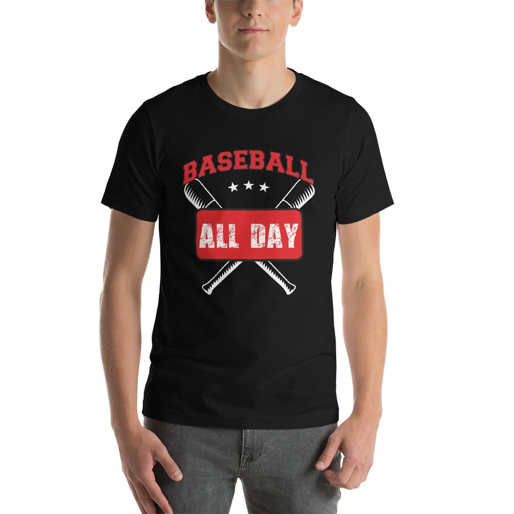 Baseball all day Men's T-Shirt Chiro's Black XS