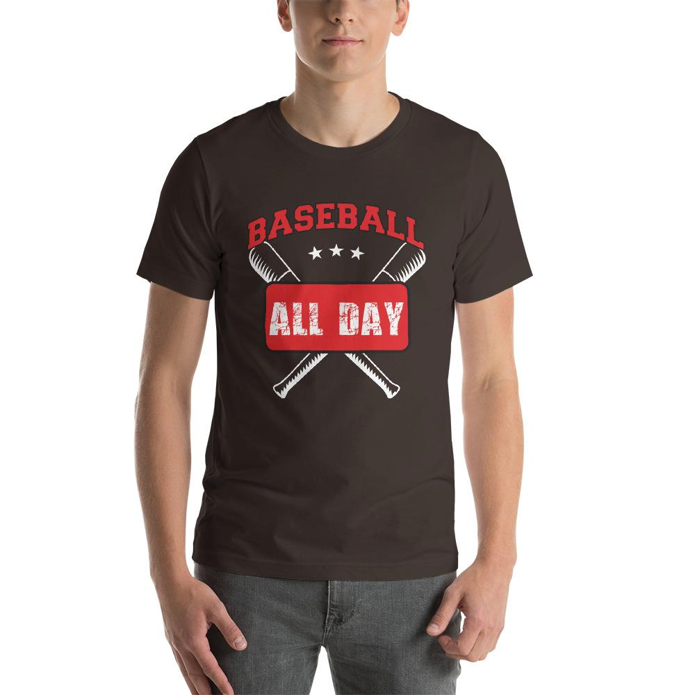 Baseball all day Men's T-Shirt Chiro's Brown S