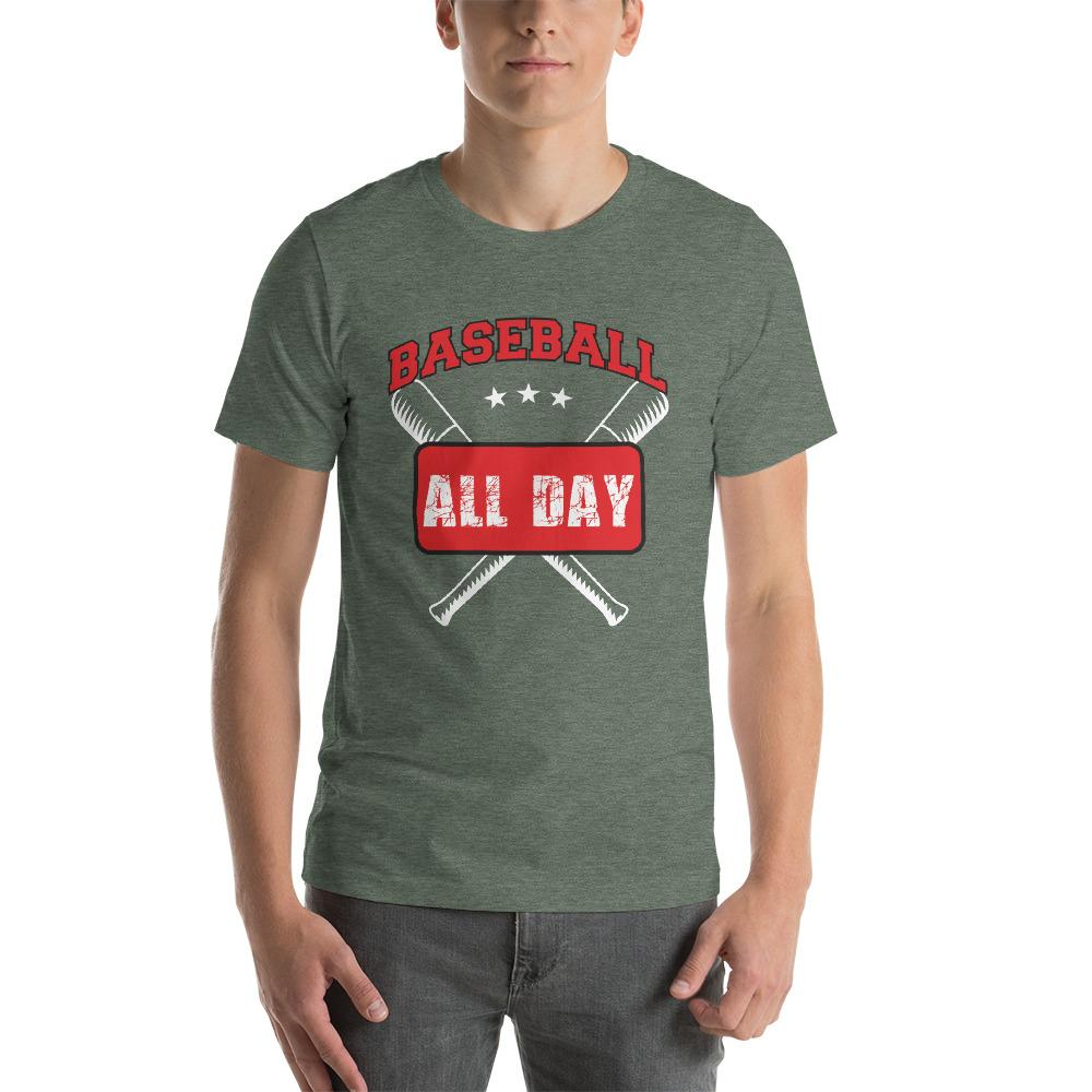 Baseball all day Men's T-Shirt Chiro's Heather Forest S