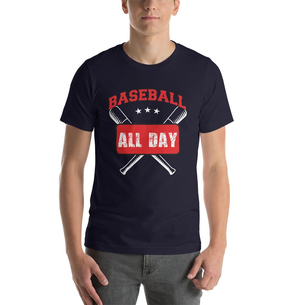 Baseball all day Men's T-Shirt Chiro's Navy XS