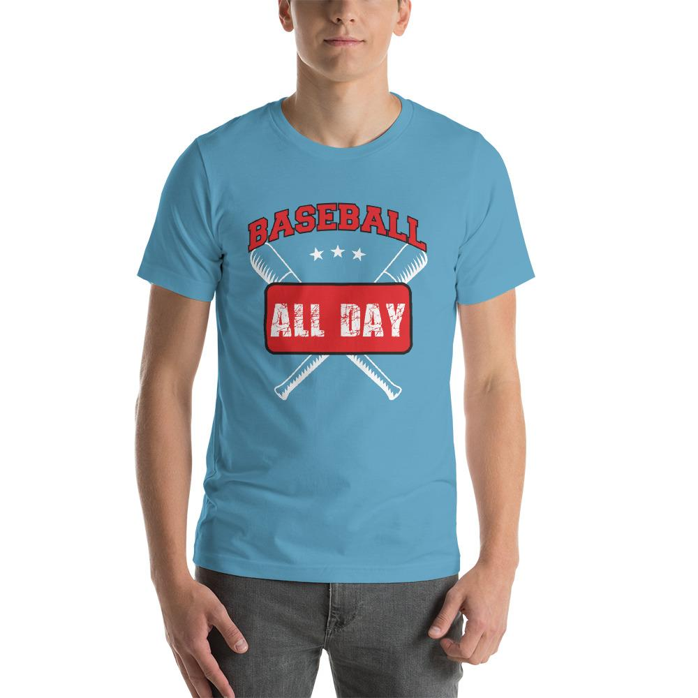 Baseball all day Men's T-Shirt Chiro's Ocean Blue S