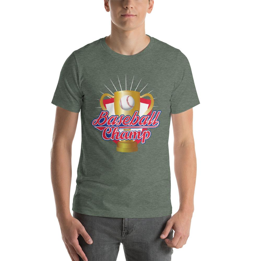 Baseball Champ Men's T-Shirt 2 Chiro's Heather Forest S