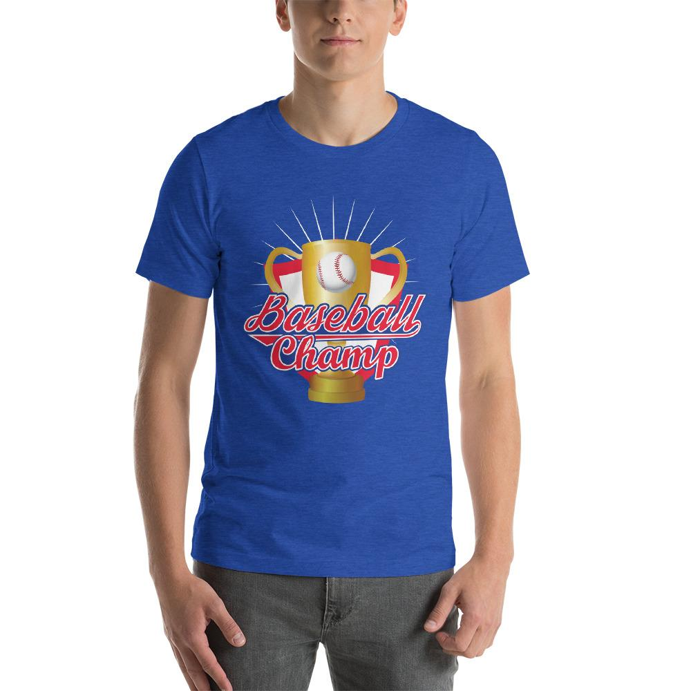 Baseball Champ Men's T-Shirt 2 Chiro's Heather True Royal S