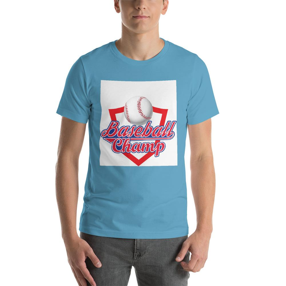 Baseball Champ Men's T-Shirt Chiro's Ocean Blue S