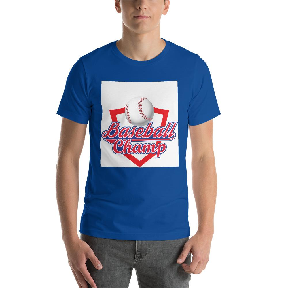 Baseball Champ Men's T-Shirt Chiro's True Royal S