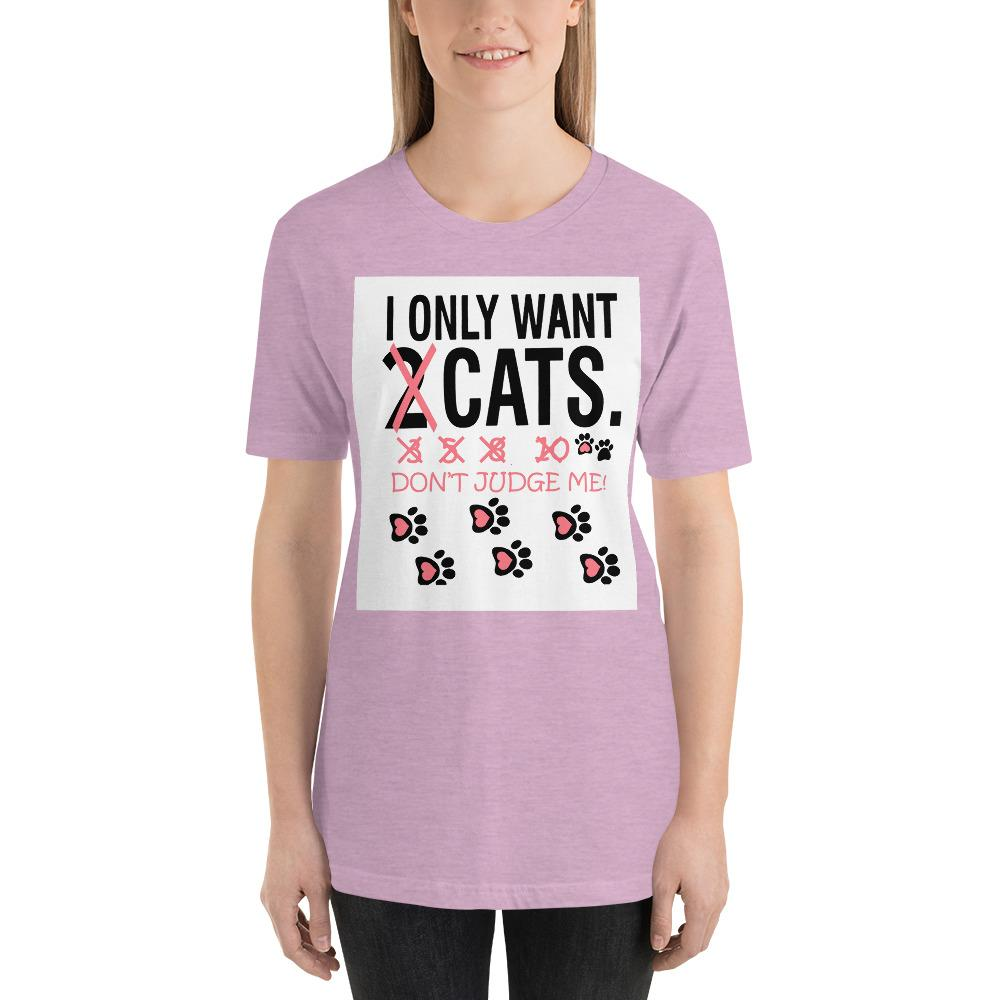 Don't Judge Me Women's T-shirt Chiro's Heather Prism Lilac XS