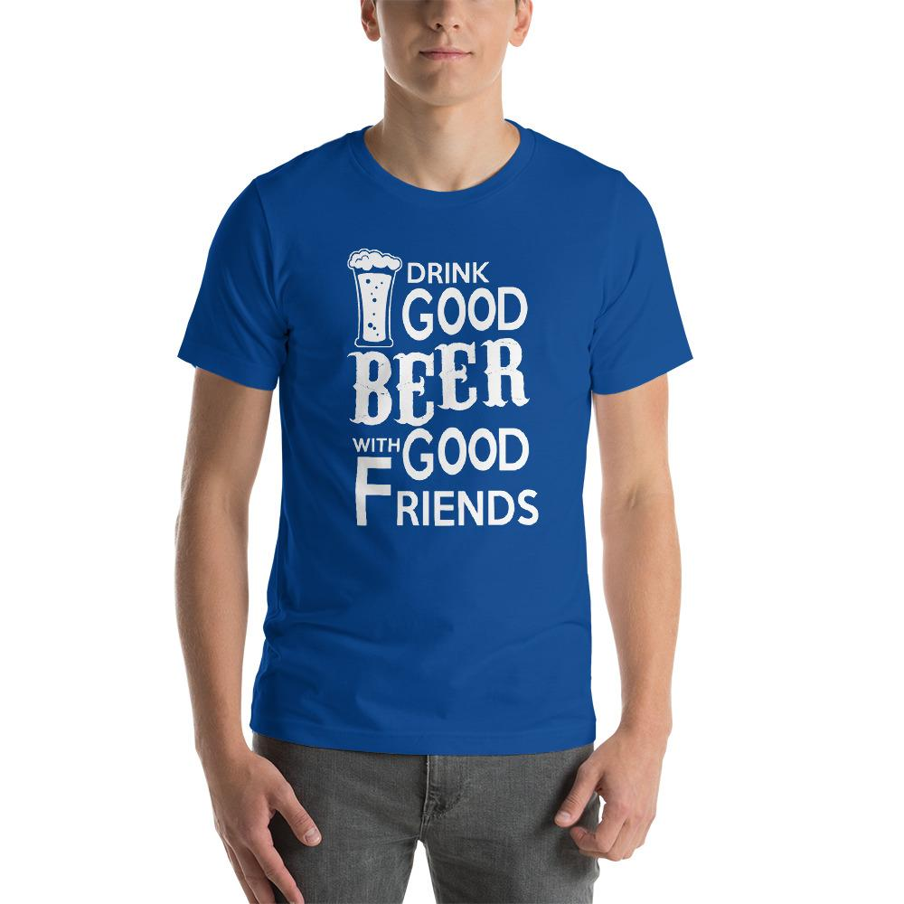 Drink Good Beer T-Shirt Chiro's True Royal S